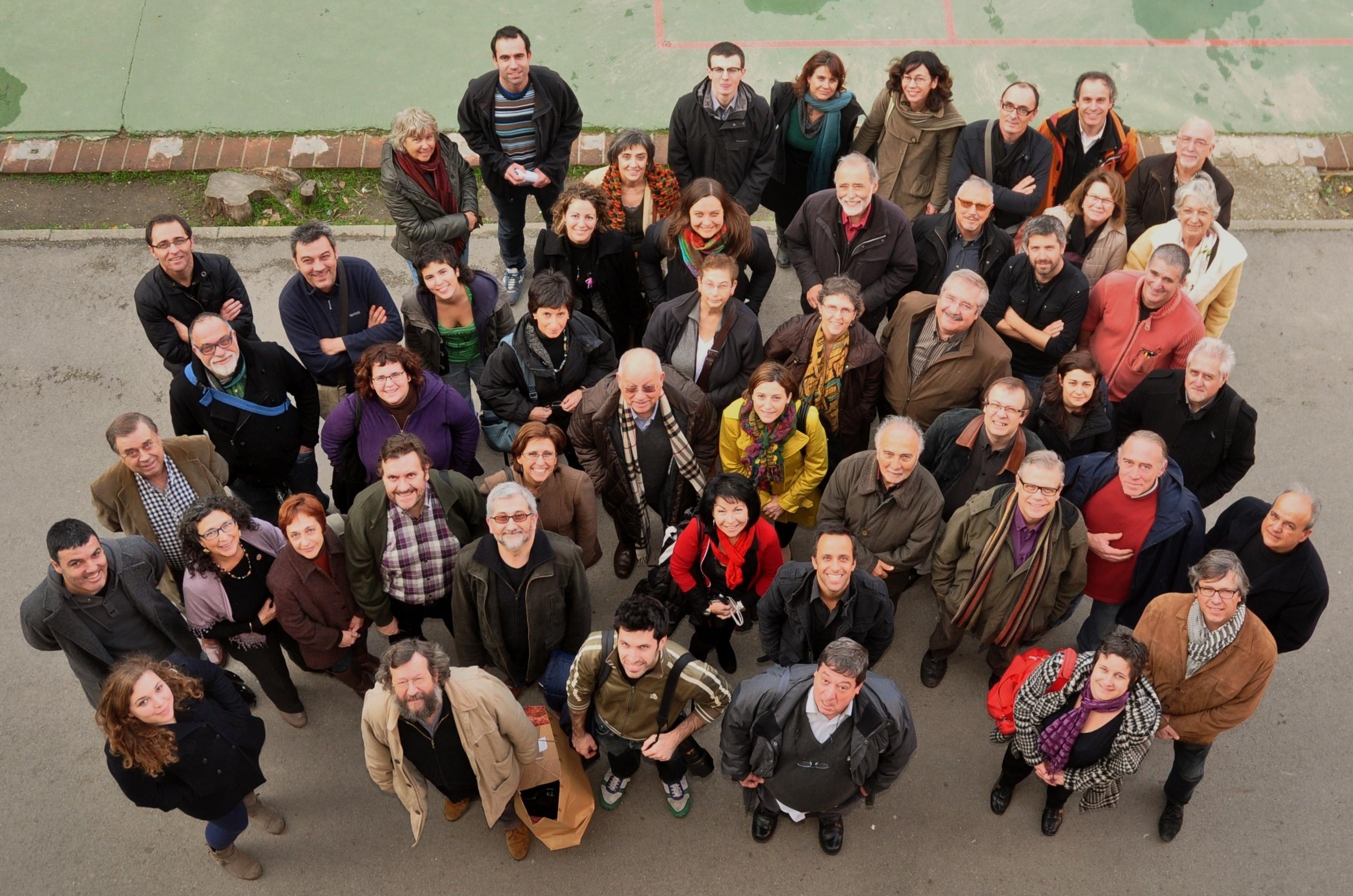 La Asamblea Nacional Catalana en Sants, el pasado diciembre