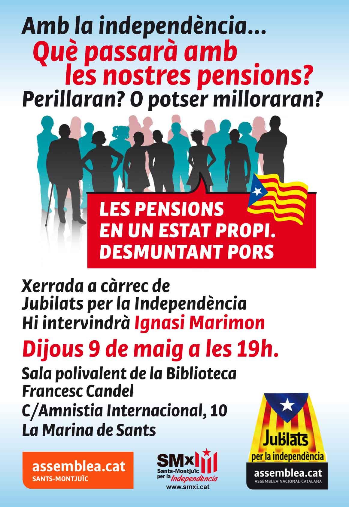 Octaveta de la xerrada col·loqui sobre les pensions a la Marian, el 9 de maig de 2013