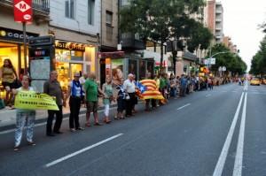 Sants, 30 d'agost de 2013, assaig general de la Via Catalana cap a la Independència