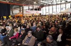 L'auditori Pérez Moya de les Cotxeres de Sants, ple