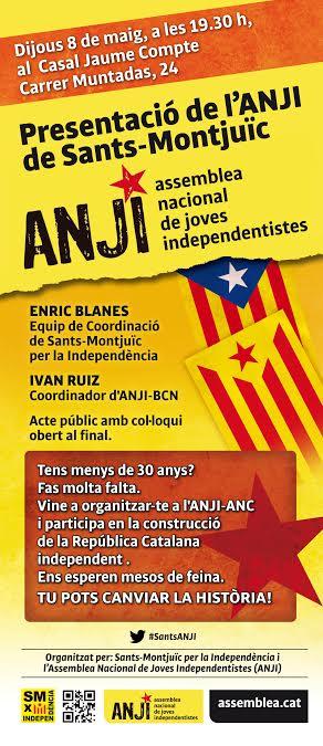 Presentació de l'ANUI de Sants-Montjuïc
