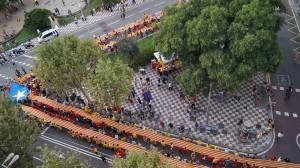 La V des del carrer de Sants amb el carrer Olzinelles