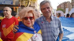 Núria Feliu i Eduardo Reyes a l'assaig de la V de Sants