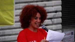 Lali Feliu, presentadora de l'assaig previ de Sants