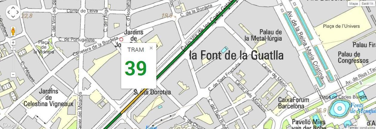 Tram 39, del carrer Sant Pere d'Abanto al carrer Santa Dorotea, amb 142 m de longitud