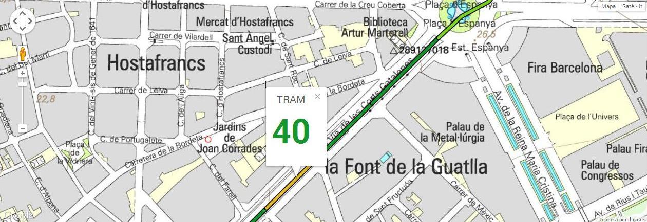 Tram 40, del carrer Santa Dorotea al carrer Sant Germà, amb 125 m de longitud