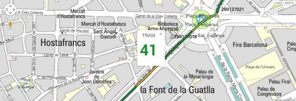 Tram 41, del carrer Sant Germà al carrer Mèxic, amb 136 m de longitud