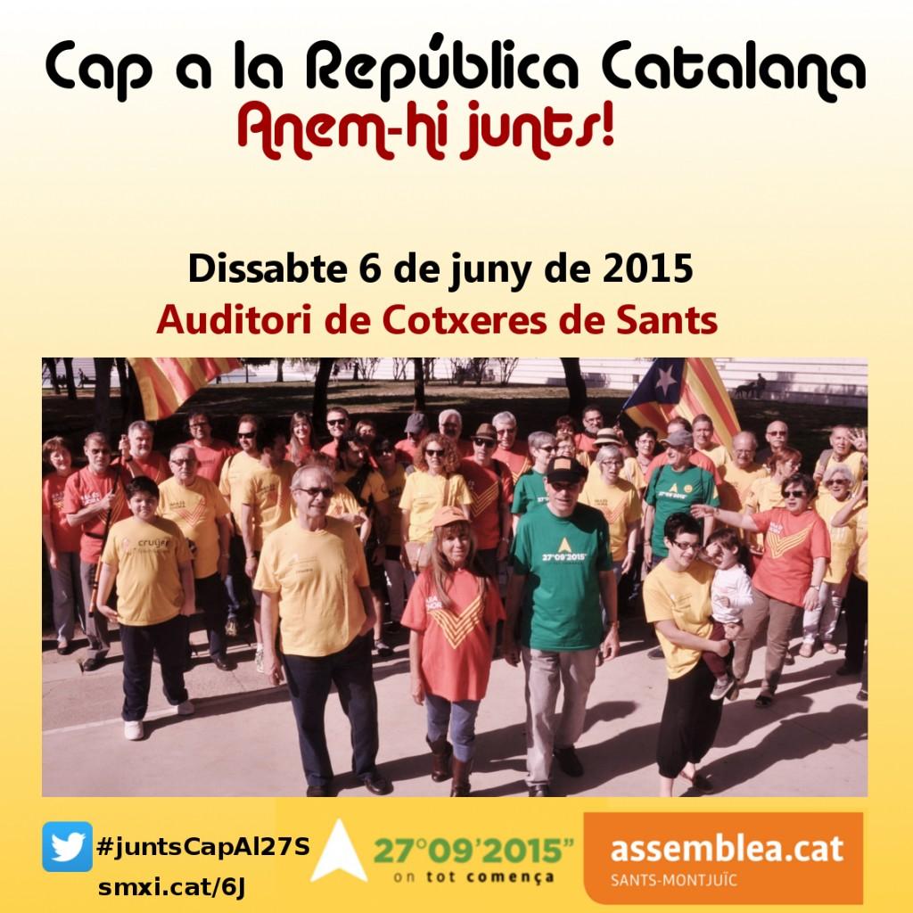 Cartell sintètic de l'acte Cap a la República Catalana: Anem-hi junts!