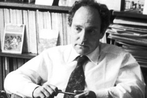 El professor Ernest Gellner, al seu despatx de la London School of Economics, el 1979