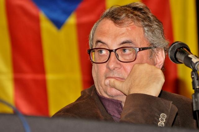 Vicent Partal a l'acte Catalunya: de la revolució a la República (foto de Josep-Lluís Gonzàlez publicada amb llicència oberta CC by-nc-sa)