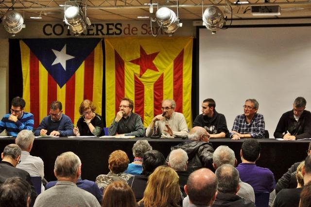 La valoració política va ser a càrrec, com és habitual, de Francesc Mercader, excoordinador de Sants-Montjuïc per la Independència (al centre de la taula)