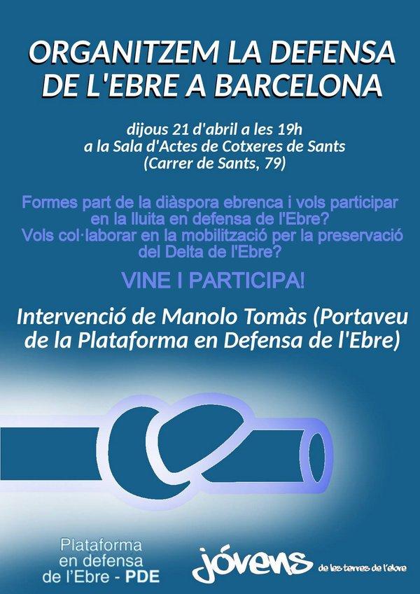 Cartell de la Plataforma en Defensa de l'Ebre