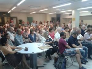 El Secretariat Nacional i els socis de l'Assemblea en contacte directe - Sants-Montjuïc per la Independència
