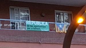 La campanya pel referèndum a Sants-Montjuïc