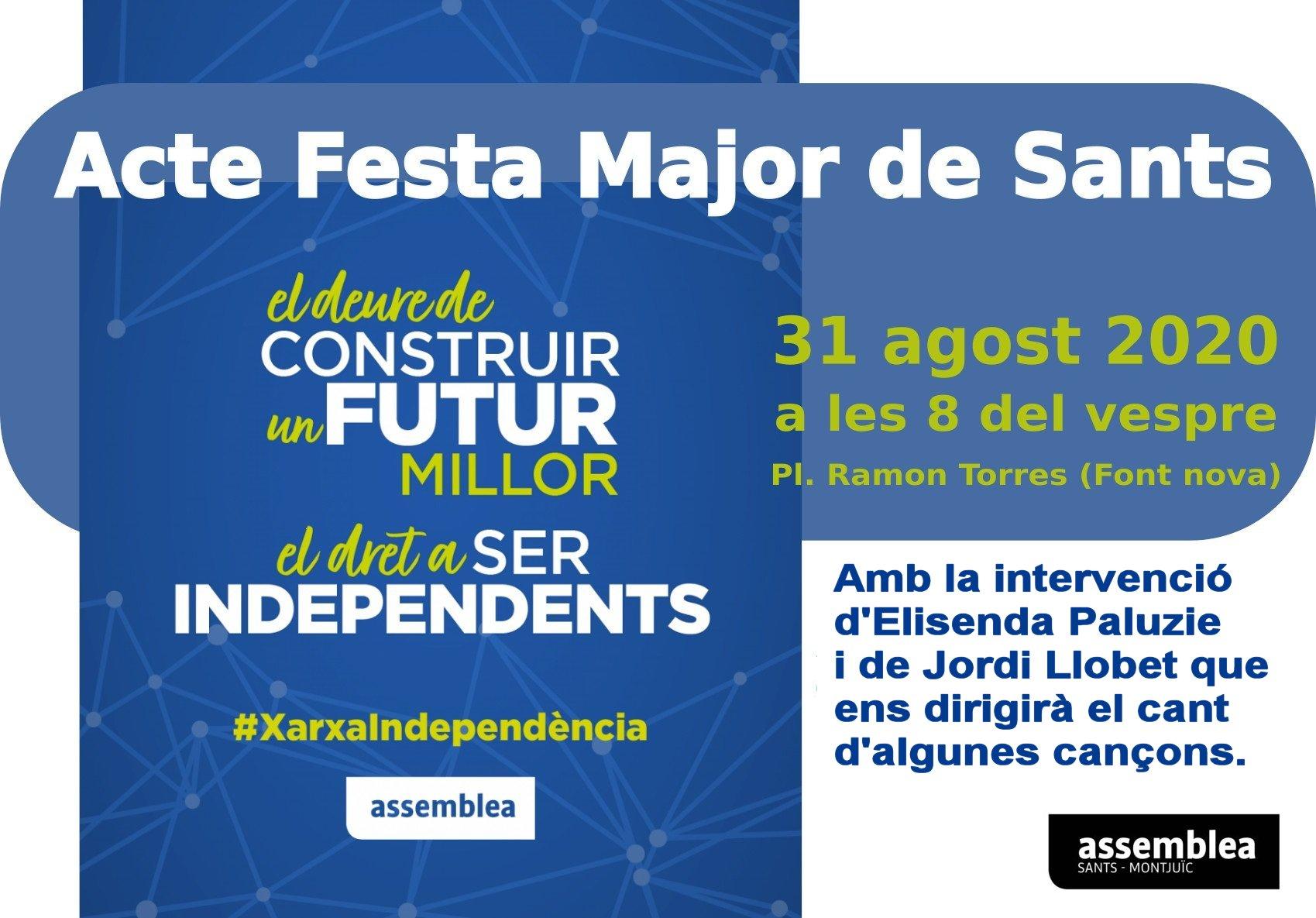 La Diada 2020 a Sants-Montjuïc