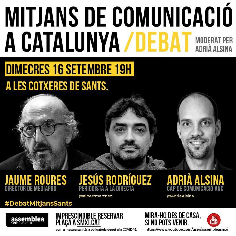 Els mitjans de comunicació a Catalunya - Debat a Sants-Montjuïc per la Independència