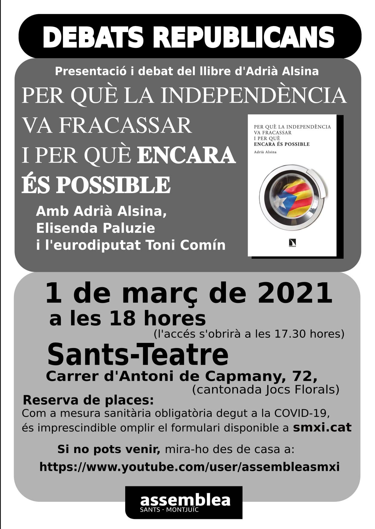 Debats Republicans a Sants-Montjuïc per la Independència